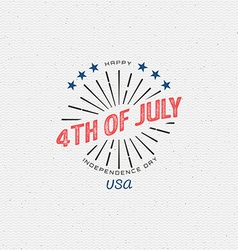 Fourth july independence day usa badges logos vector