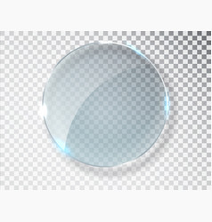 glass circle badge with a place for inscriptions vector image