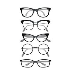 Glasses set on white background vector