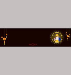 Guru nanak jayanti gurpurab also known as guru vector