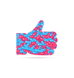 hand thumbs up icon likes filled different vector image