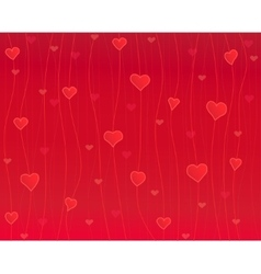 Hearts on the thread red background vector image