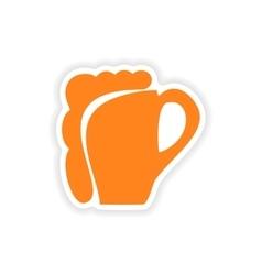 Icon sticker realistic design on paper glass vector