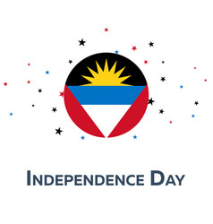 independence day of antigua and barbuda patriotic vector image