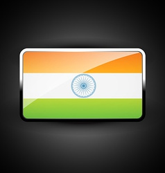 Indian flag icon vector