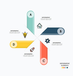 infographic and icons for business vector image