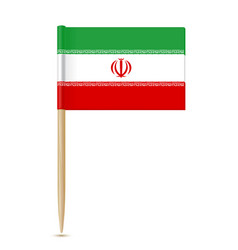 Iran flag toothpick vector