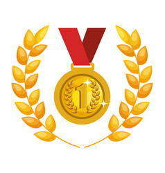 medal first place icon vector image