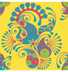 Mendi seamless pattern color vector