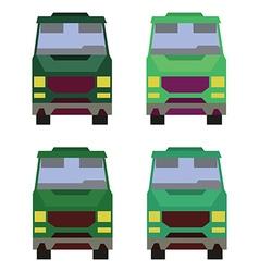 Minibus front view vector image