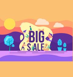 modern flat design concept big sale on outdoor vector image