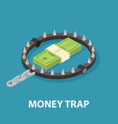 money trap isometric vector image vector image