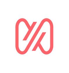 N letter infinity mobius loop logo icon vector