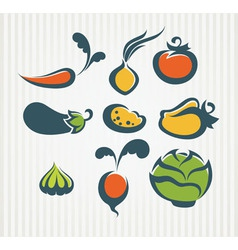 New vegetables collection vector