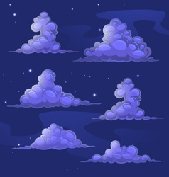 Nightly cartoon clouds vector image