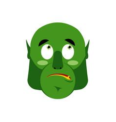 ogre surprised emoji goblin astonished emotion vector image