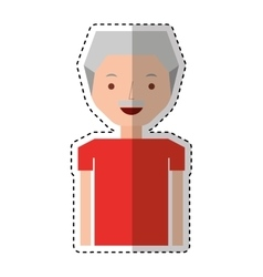 Old man avatar character vector