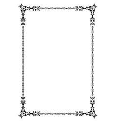 Ornamental old frame vector