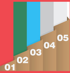 Paper folder infographics vector