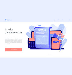Payment terms concept landing page vector