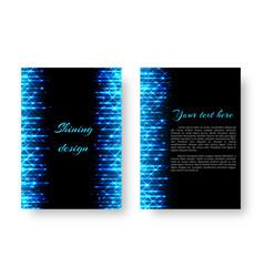 rectangular invitation with neon light vector image