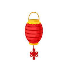 Red chinese paper street or house lantern vector