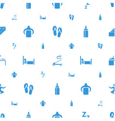 Relax icons pattern seamless white background vector