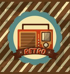 retro vintage device vector image