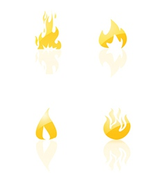 Set of fire icons vector image
