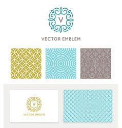 Set of graphic design elements and logo design vector