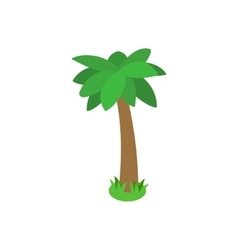 Single palm tree icon isometric 3d style vector