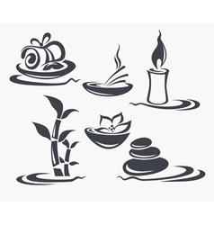 spa symbols vector image