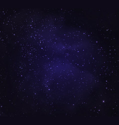 Stars in night sky background vector