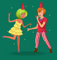 Teenager wile away time at knees-up vector