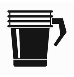 Thermo cup icon simple style vector