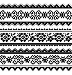 ukrainian or belarusian folk art embroidery patter vector image
