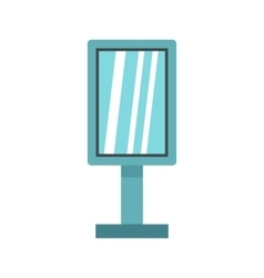 Vintage microphone icon flat style vector image