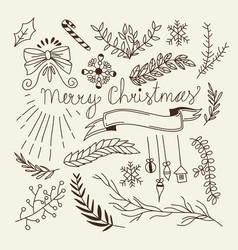 winter christmas sketch concept vector image