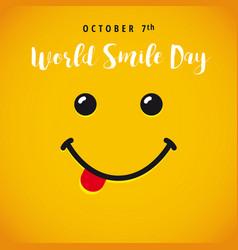 world smile day banner vector image