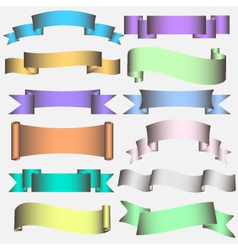 banner ribbon scroll vector image vector image