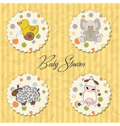 cartoon baby toys items collection vector image vector image