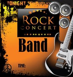 Rock concert poster vector image vector image