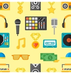 Seamless pattern with music icons vector image