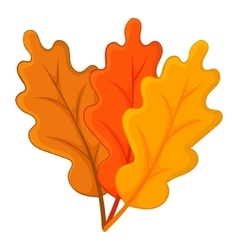 Autumn leaves icon cartoon style vector image