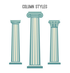 column styles set from elegant ancient vector image