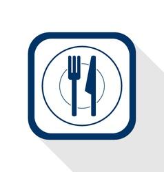 cutlery flat icon vector image vector image