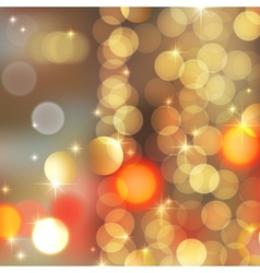 gold blurred lights vector image vector image