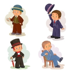 Set clip art with young children in vector image vector image