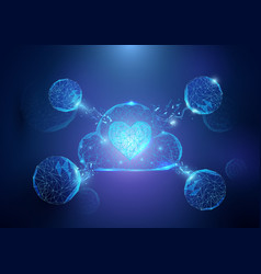 abstract cloud and heart form of a starry sky vector image