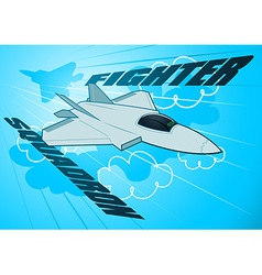 Air force jet fighter squadron in the sky vector image